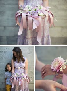 / Pin curated by Pretty Planner Weddings & Events www.prettyplannerweddings.com / CORSAGES FOR MOMS (RIBBON + SINGLE BLOOM)