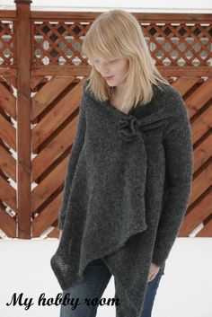 Simple wrap sweater
