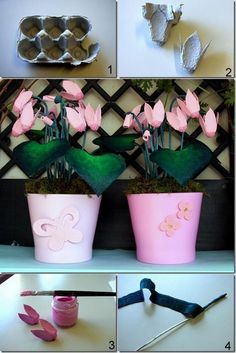 DIY Egg Carton Primrose Flower