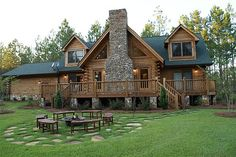 Rustic log home - lo