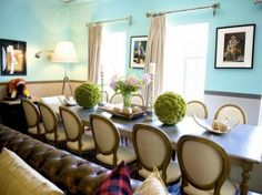 Love the table decor and the wall color!