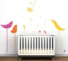 Tall birds for baby's room