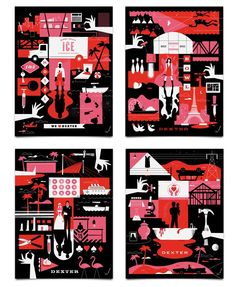 Ty Mattson Dexter posters http://mattsoncreative.com/blog/2010/10/06/dexter-inspired-posters/