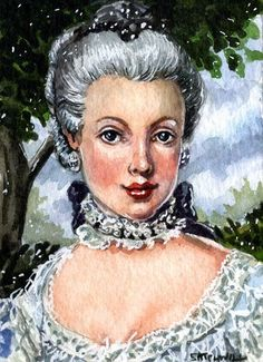 Art: Young Marie Antoinette by Artist Mark Satchwill