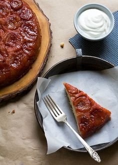 Sour Plus Brown Butter Upside Down Cake // A Cozy Kitchen