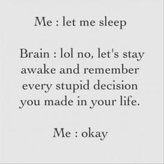 can't sleep - me!