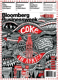 #illustration #africa #magazine #businessweek #coke #red #design #intricate