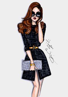 #Hayden Williams Fashion Illustrations #'Black Magick' by Hayden Williams