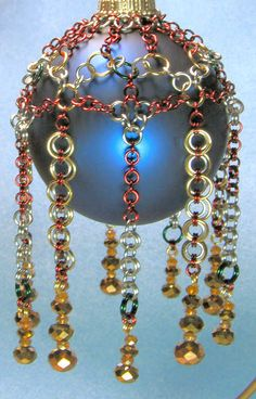 Chain Maille Tutorial - Chain Maille Ornament Covers 1. $4.00, via Etsy. love it! must try! #ecrafty