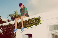 Alexa Chung in Turquoise