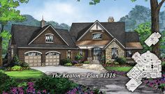 The Keaton Plan 1318 is NOW AVAILABLE! http://www.dongardner.com/plan_details.aspx?pid=4524 - Unique features and practical amenities are packed into a modest footprint in this one-story home. #Craftsman #OneStory #DreamHome