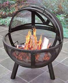 spherical fire pit  backyardcity.com