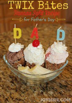 TWIX Bites Banana Split Recipe for Father's Day #EatMoreBites #shop #cbias #FathersDay
