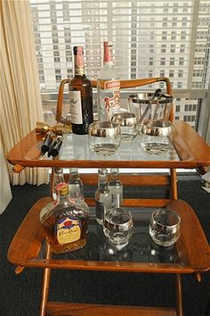I actually rewound a recent scene in Mad Men in order to ogle Don's office bar cart.