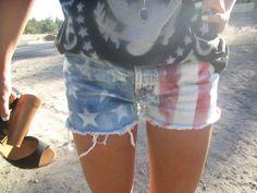 american flag shorts.