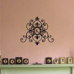 Monogrammed Wall Decal  from etsy.com