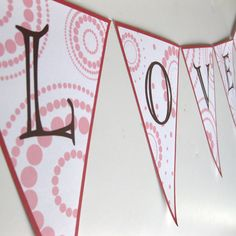 Free printable Valentine's Day banner.