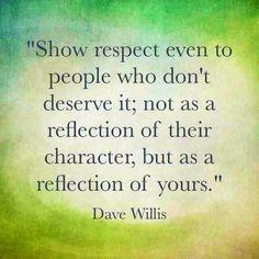Respect ❤️