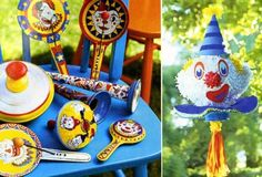 vintage noise makers for circus carnival party and clown pinata