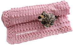 Tutorial: manta para bebé tejida a crochet!