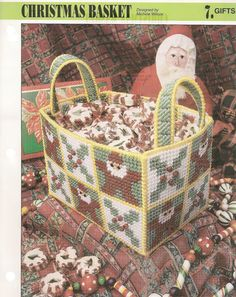 Christmas Basket Plastic Canvas Pattern by needlecraftsupershop, $4.99