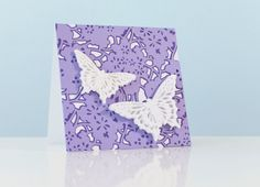 Anna Griffin Elegant Embellishments Floral Butterfly Card. Make It Now in #Cricut Design Space.