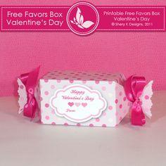 party favors, valentine treats, valentin printabl, printable templates, craft stores, printabl box, favor boxes, free printabl, box templates