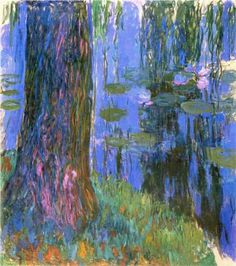 Weeping Willow and Water-Lily Pond - Claude Monet