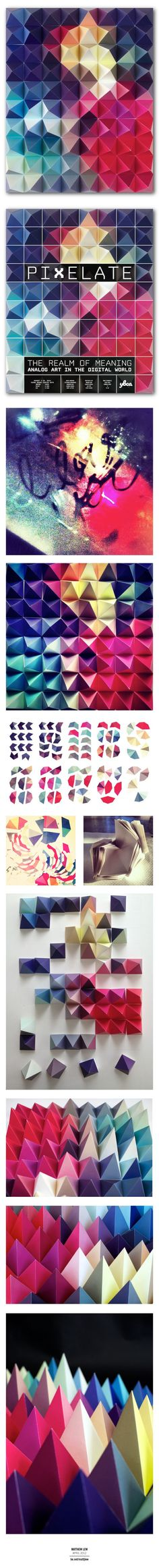 Pixelate - The Realm Of Meaning by Matthew Lew, via Behance #design