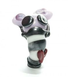 Lampwork Glass Punk Plague Rat Pendant by Copperrein for $24.00