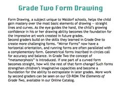 grade two form drawing