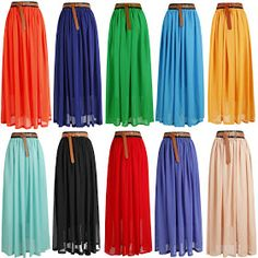@ILuvYouJenay Colorful maxi skirts for just $11!!!