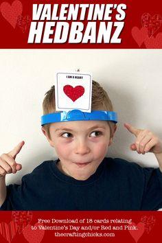 Valentine's HedBanz party games, hedbanz game, kid