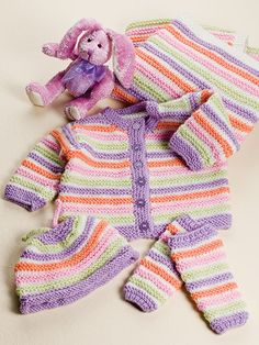 Garter Stripes Ensemble Knit Pattern