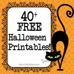 40+ Free Halloween Printables  A wonderful place to find creative ideas and templates to use on quilted Halloween sewing projects.....Boo