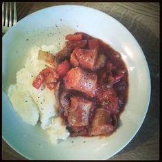 sausage casserole. Uk dinner recipe