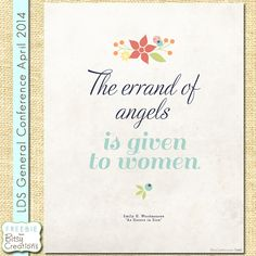 The Errand of Angels Printable Freebie LDS Womens Conference by BitsyCreations #freeprintable #ldsconf #womensconference
