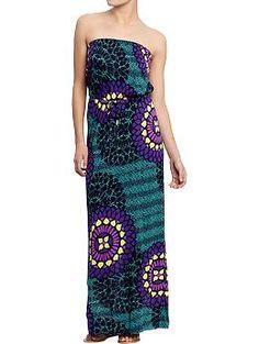 Womens Tube Maxi Dresses