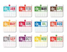 2013 Calendar (inspired by vintage airline luggage tags) - Perfect Holiday Gift. via Etsy. Seen on Paper Crave