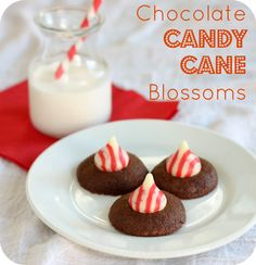 Chocolate Candy Cane Blossoms | 52 Kitchen Adventures