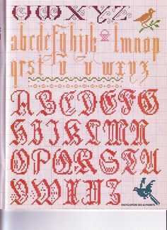 #Cross-stitch #alphabet	#monogram #abc's