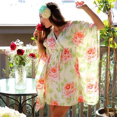 Floral Mini Dress  Spring Fashion   Roses by mademoisellemermaid, $65.00