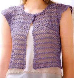 Easy Simple and Elegant Lace Vest for Women