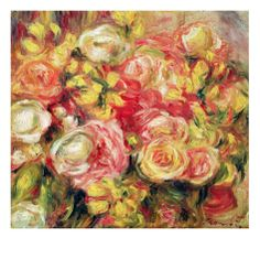 Roses Giclee Print by Pierre-Auguste Renoir at Art.com