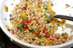 Farro Salad with Peppers