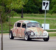 1966 VW Beetle custom 4 door by scott597, via Flickr