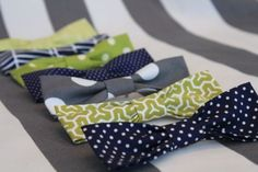 diy no sew baby bow ties / use velcro instead of pins and use them for dress up in my daycare. They need mini business clothes.