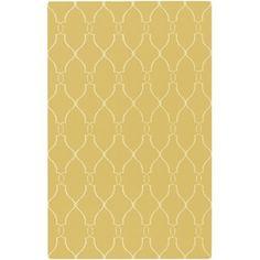 Jill Rosenwald Rugs Fallon Yellow / Ivory Contemporary Rug
