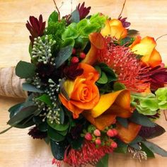 beautiful fall bouquet from Hawley's Florist