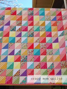 crazy mom quilts: distressed quilt finish